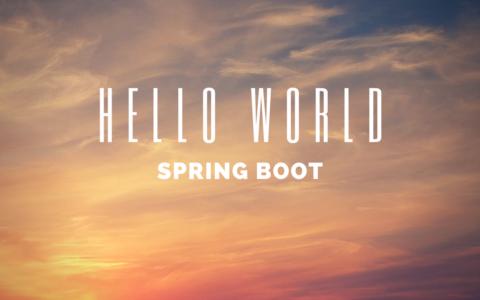 【Spring Boot入門(3)】ひとまずHello Worldしてみる