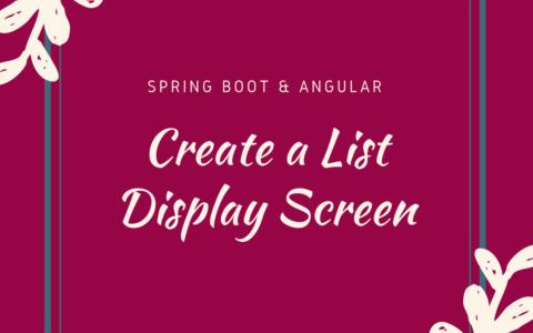 AngularとSpring Bootで商品一覧画面を作ってみる