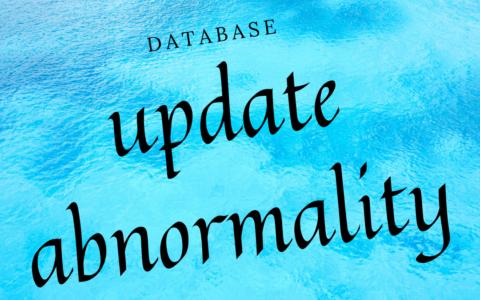 データベースの基礎【正規化不十分な時に発生する更新時異状】